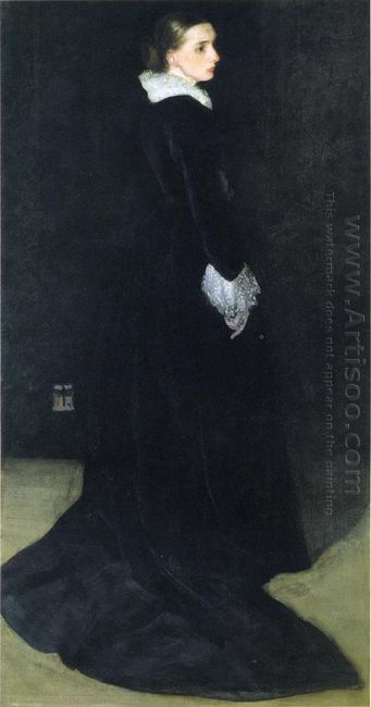 Arrangement In Black No 2 Portrait Of Mrs Louis Huth 1873