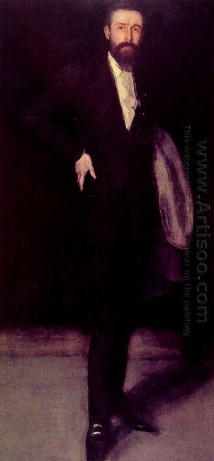 Arrangement In Black Portrait Of F R Leyland 1873
