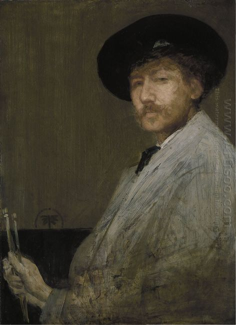 Arrangement In Grey Portrait Of The Painter