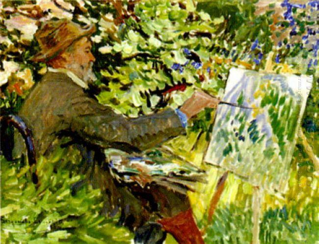 Artist At The Easel Portrait Of Konstantin Korovin