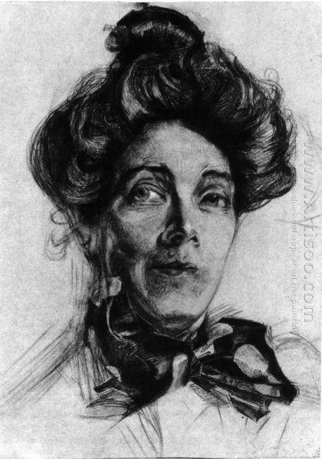 Artist S Wife Nadezhda Zabela 1905