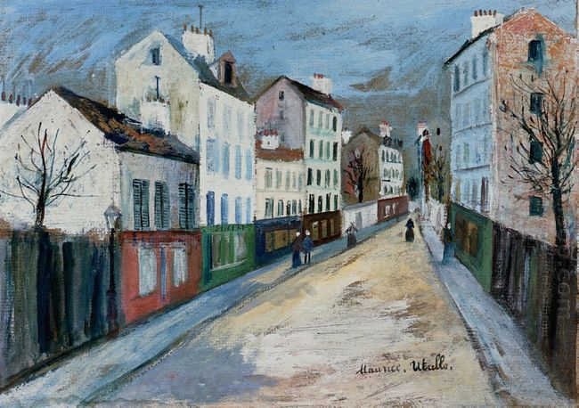 A Street In A Suburb Of Paris