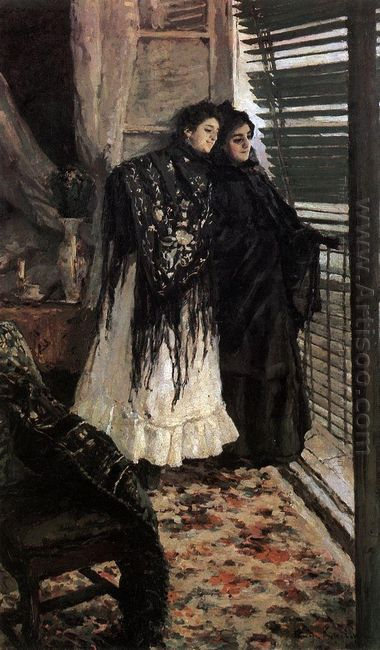 At The Balcony Spanish Women Leonora And Ampara 1889