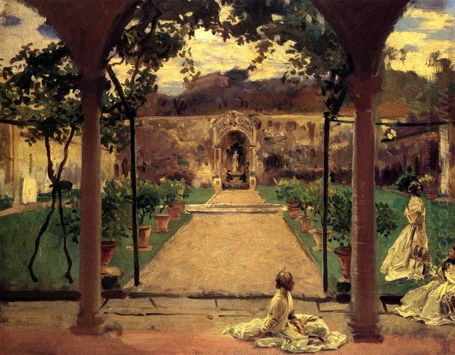 At Torre Galli Ladies In A Garden 1910