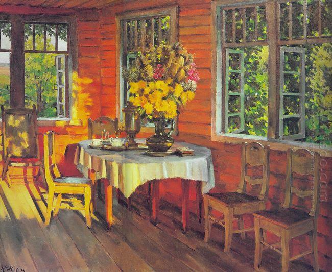 August Evening Last Ray Ligachevo 1948