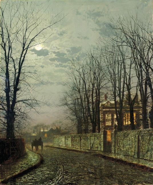 A Wintry Moon 1886