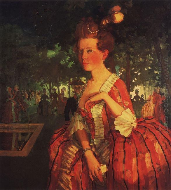 A Young Girl In A Red Dress Girl With A Letter
