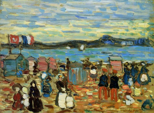 Bathing Tents St Malo 1907