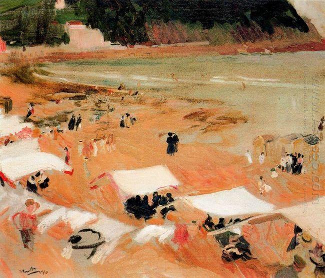 Beach At Zarauz 1910