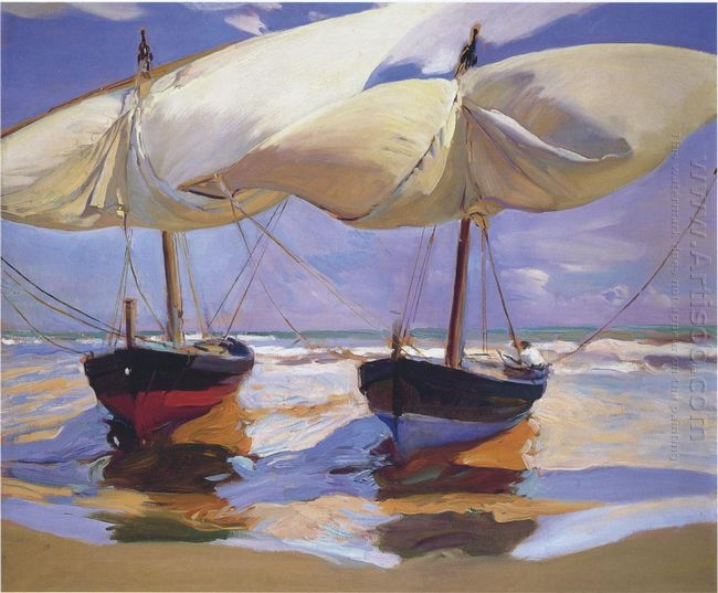 Beached Boats 1915