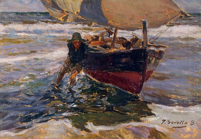 Beaching The Boat Study 1908