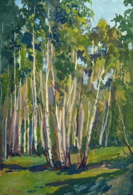 Birches At Noon