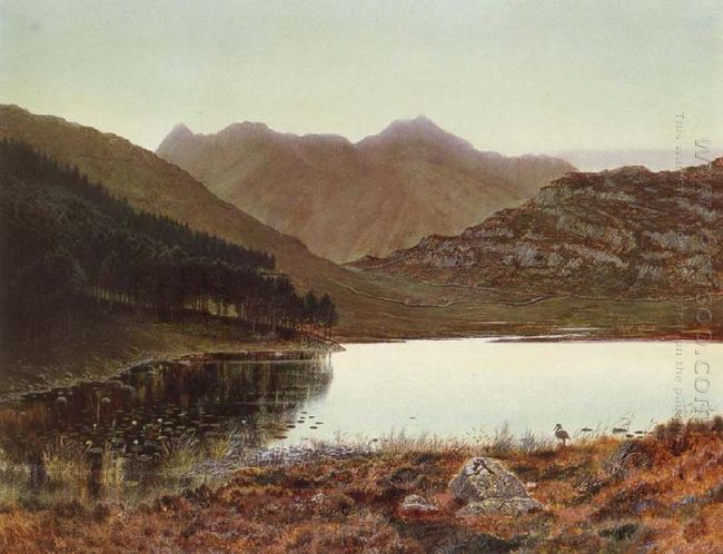Blea Tarn At First Light Langdale Pikes In The Distance 1865