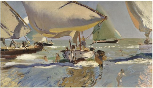 Boats On The Beach 1909