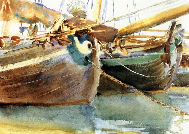 Boats Venice 1903
