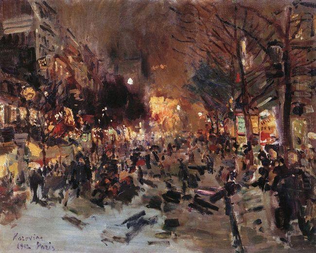 Boulevard In Paris 1912