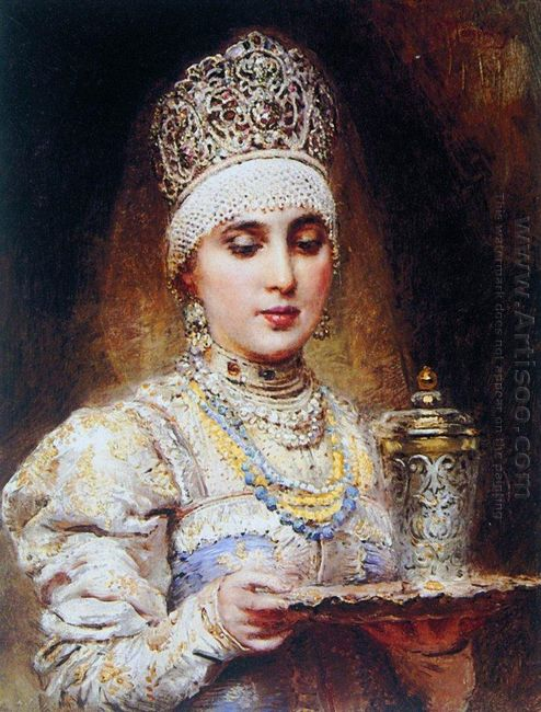 Boyaryshnya With A Tray