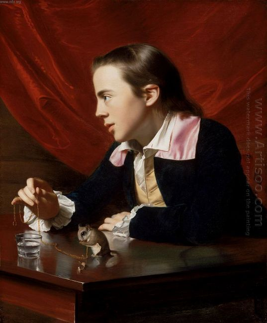 Boy With Squirrel Henry Pelham 1765