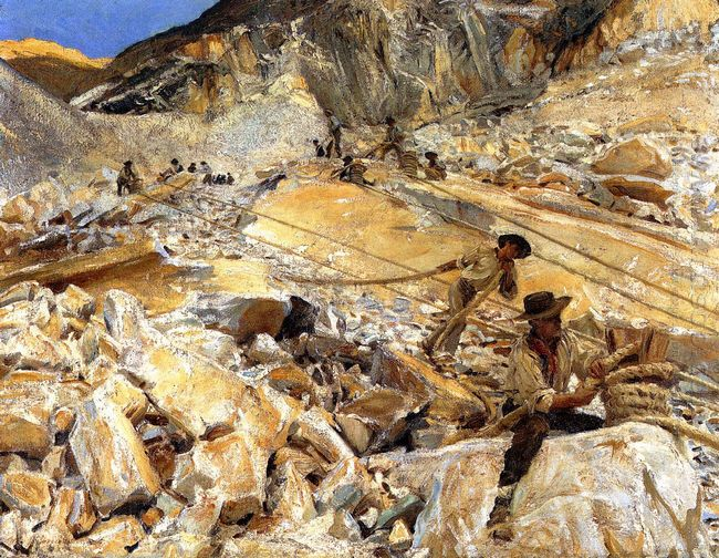 Bringing Down Marble From The Quarries In Carrara 1911