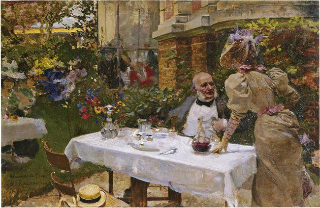 Cafe In Paris 1885