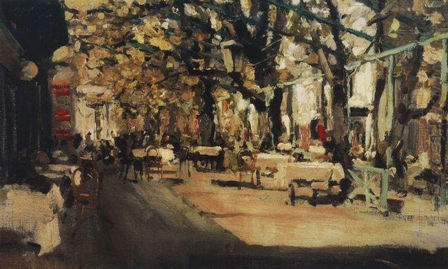 Cafe In Yalta 1905