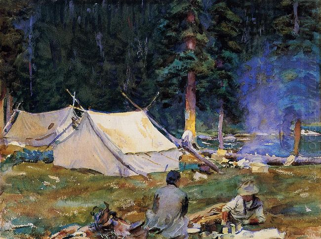 Camping At Lake O Hara 1916