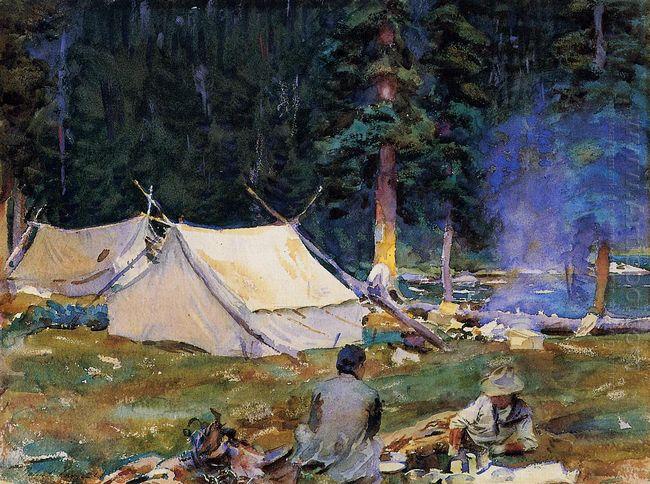 Camping At Lake O Hara 1916