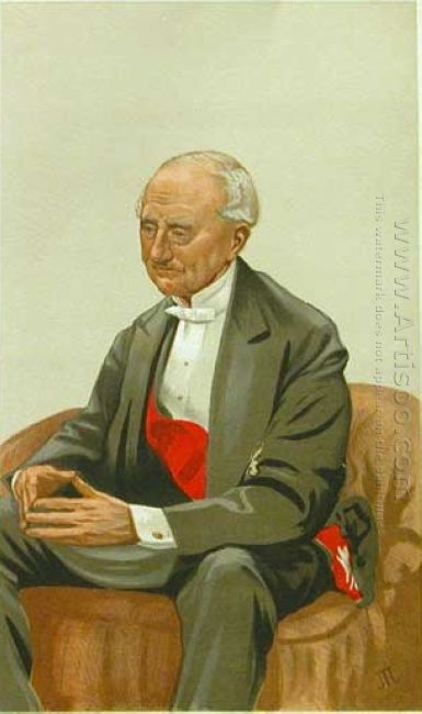 Caricature Of Admiral Sir Hastings Reginald Yelverton