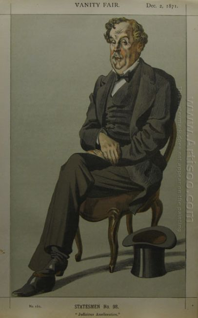 Caricature Of Alexander Baillie Cochrane M P