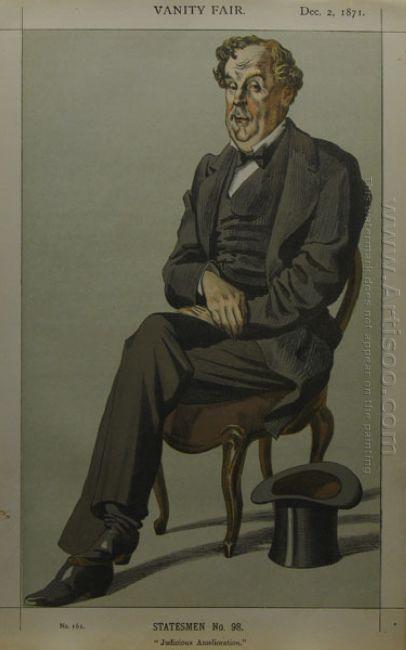 Caricature Of Alexander Baillie Cochrane M P