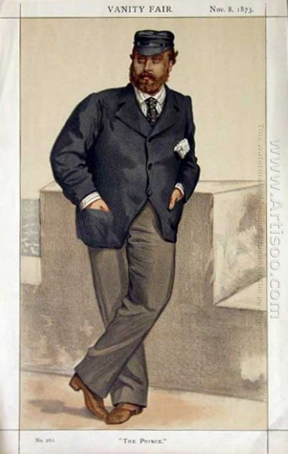 Caricature Of Edward Prince Of Wales