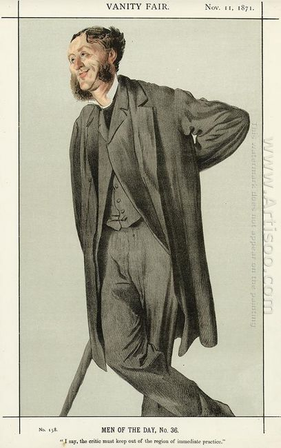 Caricature Of Matthew Arnold
