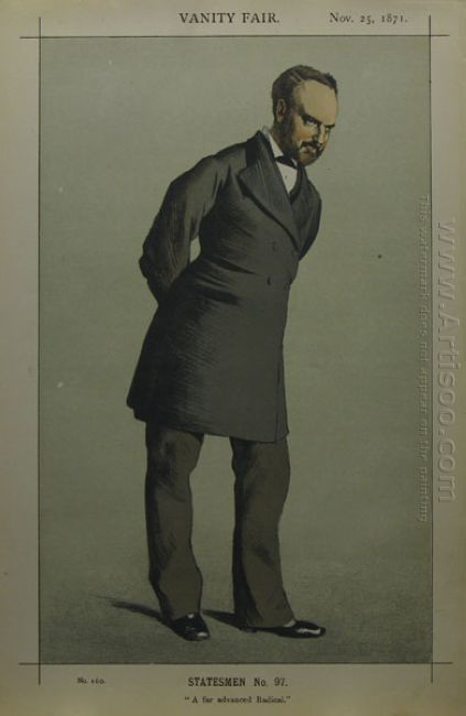 Caricature Of Sir Charles Wentworth Dilke 2Nd Baronet Pc