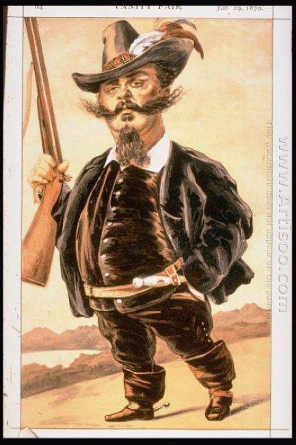 Caricature Of Victor Emmanuel Ii Of Italy