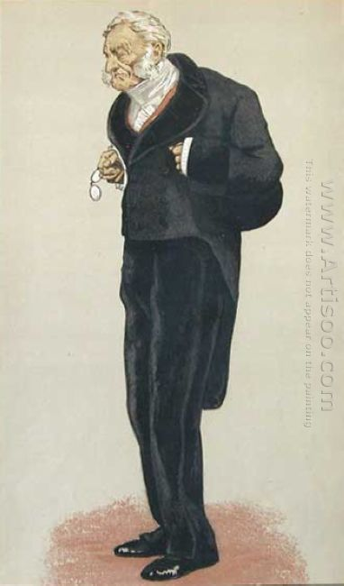 Caricature Of William Bathurst 5Th Earl Bathurst