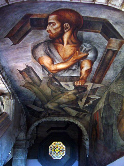 Ceiling Of Colegio De San Ildefonso 1926
