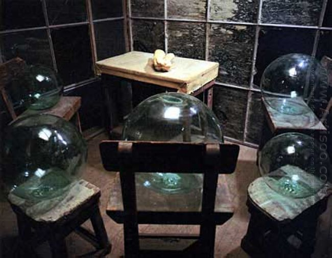 Cell Glass Spheres And Hands 1993