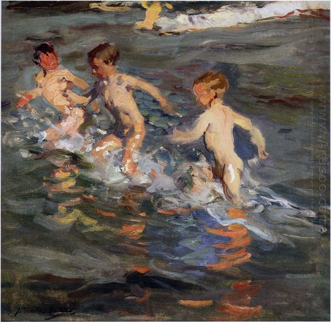 Children At The Beach 1899