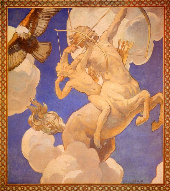 Chiron And Achilles 1921