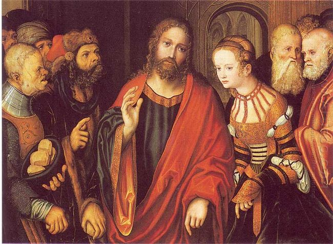 Christ And The Adulteress 1520