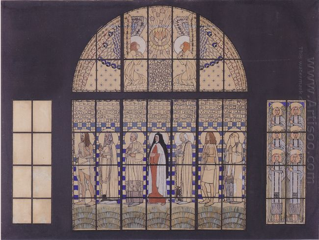 Church Am Steinhof Design For The East Side Windows 1905