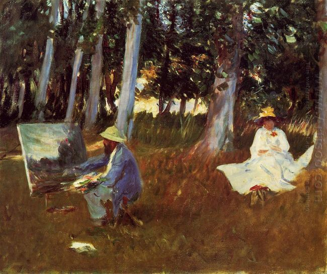 Claude Monet Painting By The Edge Of A Wood 1885