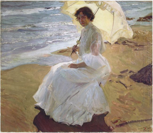 Clothilde At The Beach 1904