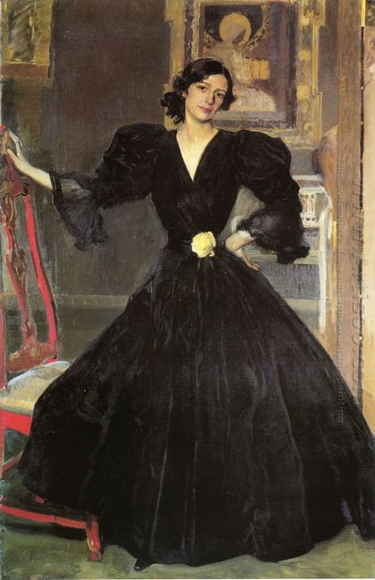 Clotilde In A Black Dress 1906