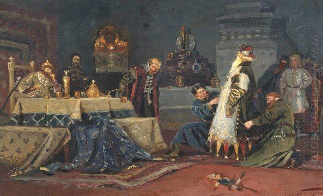 Clownish Coat Boyar Morozov A In Front Of Ivan The Terrible 1885