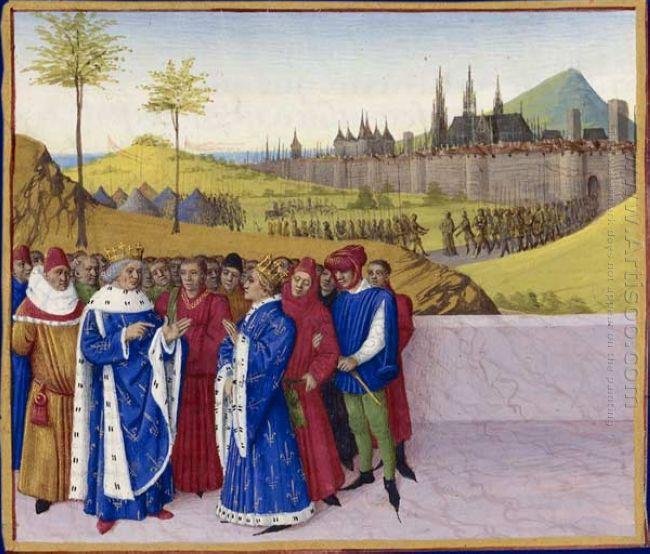 Conversation Between St Gontran And St Childebert Ii
