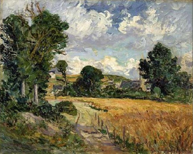 Cornfield In The Valley Of Saint Jean Du Doigt