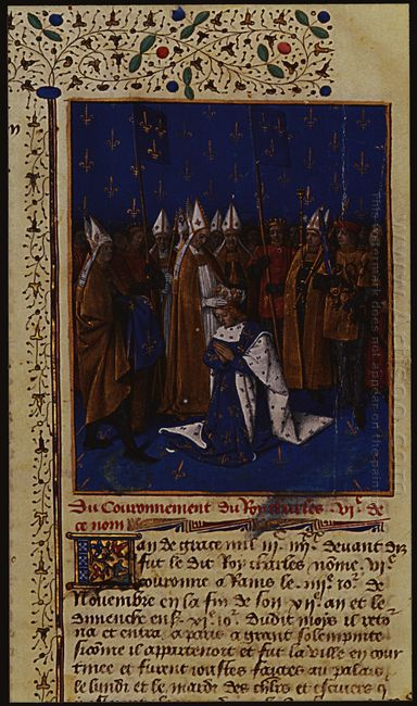 Coronation Of Charles Vi In 1380 In Reims 1460