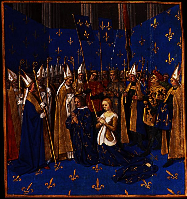 Coronation Of Louis Viii And Blanche Of Castile At Reims 1460