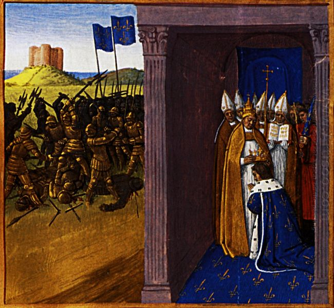 Coronation Of Pepin The Short In Laon 1460